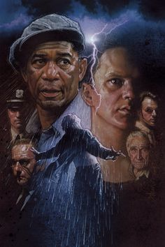 Awesome poster art for the movie - The Shawshank Redemption (1994). Great poster design for an equally great movie.