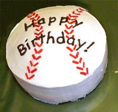 Baseball Cake from RecipeTips.com!
