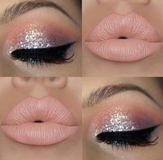 #Makeuplooks Claire's Makeup, Barbie Makeup, Fairy Makeup, No Eyeliner Makeup, Pink Makeup, Glitter Makeup, Sparkly Eye Makeup, Makeup Goals, Makeup Cosmetics