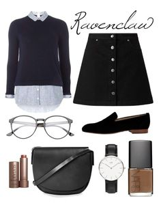 """Ravenclaw"" by lacywoods ❤ liked on Polyvore featuring Dorothy Perkins, Miss Selfridge, NARS Cosmetics, Topshop, Fresh and Alberto Moretti"