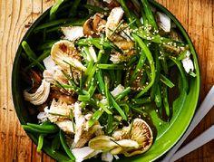 Healthy Coconut Oil Mushroom Green Beans