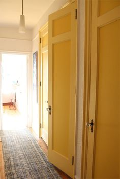 Phil and Annette's Prospect Park Home Painted doors with white walls