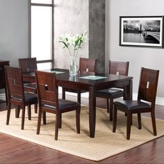 American Lifestyles 7-piece Lakeside Extension Dining Table Set | Overstock.com Shopping - Big Discounts on Dining Sets
