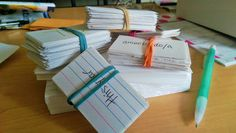 Flashcards allow me to organize my thoughts and focus on one thing at a time. In my AP Psychology class in high school my teacher required us to make flashcards for all of the terms and people we learned about. Although this was a time consuming and tedious task, it helped me study for the tests that we took every week. I would basically access that file in my brain and get a visual of what the card looked like while studying to remember the terms.