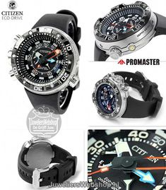 Citizen Men's Promaster Eco-Drive Aqualand Depth Meter Watch for sale online Amazing Watches, Cool Watches, Watches For Men, Stylish Watches, Luxury Watches, Sport Watches, Citizen Watches, Expensive Watches, Mens Watches Leather