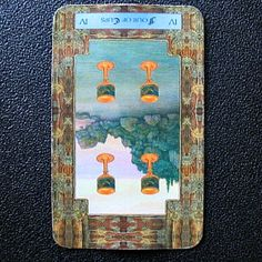 Reversed Four of Cups   Daily Dragon Tarot