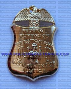 FBI wallet badge. Rear clip attachment. Available from www.policebadgetrader.com