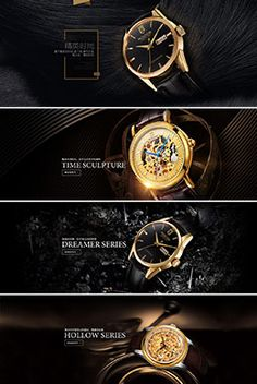 Rocos Rex watch air banner poster design Creative Advertising, Advertising Design, Brochure Design, Flyer Design, Template Web, Marketing Poster, Page Web, Watches Photography, Watch Ad