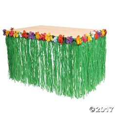 Hawaiian Green Grass Table Skirt Hibiscus Flower Border Plastic Tropical Fun Hula Summer Luau Party Decor with Green Tropical Leaves by on Etsy Aloha Party, Luau Theme Party, Hawaiian Luau Party, Hawaiian Birthday, Tiki Party, Luau Birthday, Birthday Parties, Hawaiin Theme Party, Hawaiin Party Ideas