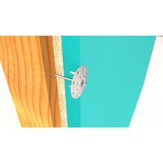 "250 PC Plasti Grip 1.75/"" Ci Prong Washer Rigid Foam Insulation Wool Fasteners"