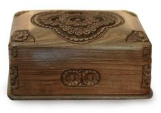 NOVICA Walnut wood jewelry box Treasured Roses >>> Find out more about the great product at the image link.
