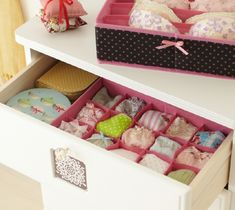 i've always loved these little drawer Lingerie Organization, Life Organization, Clothing Storage, Decluttering, Getting Organized, Storage Spaces, Storage Ideas, Home Projects, Storage Chest