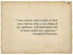 I am a forest and a night of dark trees..