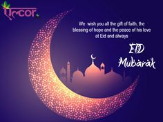 """The moon has been sighted The sweets are ready Here comes EID so just go steady Lots of dua""""s is all we request and just wanted to wish you all the BEST!!! """"Eid Mubarak"""" #Alcorspa"""