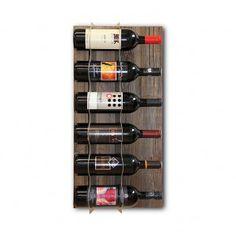 """Weinregal """"Horizontale"""" by pastarro.com     Die Weine in Reih und Glied – horizontal an der Wand entlang mit einem dezenten Touch von Nostalgie! Altholz und Edelstahl ergänzen sich einander in wunderbarer Art und Weise. Und wenn es mehr Flaschen sind, die an die Wand gehören, so lässt sich unser Weinregal in der Modulbauweise einfach erweitern. Wine Rack, Cabinet, Storage, Html, Furniture, Design, Home Decor, Old Wood, Flasks"""
