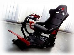 The Bulgarian RSEAT Ltd announced that they will soon start retailing a Assetto Corsa branded version of their rSeat racing cockpit. Racing Seats, Racing Wheel, Racing Simulator, Game Room Design, Gamer Room, 3rd Wheel, Adjustable Legs, Ferrari 458, Xbox One