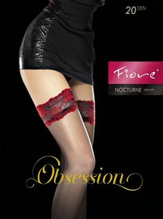 FIORE NOCTURNE STAY UP THIGH HIGH STOCKINGS FINE EUROPEAN  3 SIZE BLACK #Fiore #ThighHighs