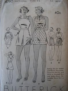 1930s bathing suit pattern   Flickr - Photo Sharing!