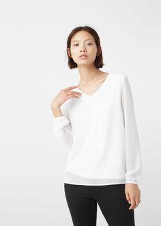 Double-layer blouse | MANGO