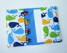 Crayon Wallet  Whales by GingerandJuniper on Etsy, $15.00