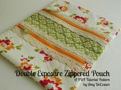 Double Exposure Zippered Pouch - A New Pattern!