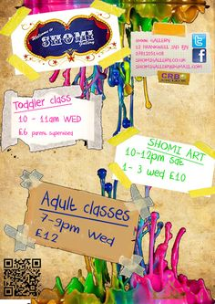 new poster for Shomi classes - the dolls are helping out at Shomi gallery again. Excited :)