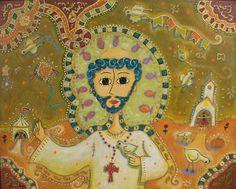 Sao Francisco...contato ou 31 91465677... - Pintura,  100x80 cm ©2008 por Ronaldo Mendes -                            Art naïf, Sao Francisco de Assis  de Ronaldo Mendes