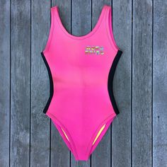 5d1be516b1 Vintage 90's Bright Neon Pink West Suits Australia Wetsuit Bikini 2mm Thick  Women's One Piece Size 10 Retro Summer Beach Wear 90s Swim Wear