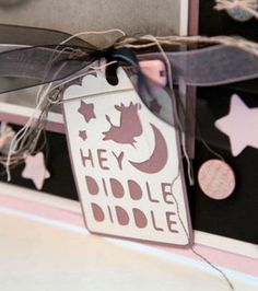 Cricut Mini -Baby Hey Diddle Diddle Tag