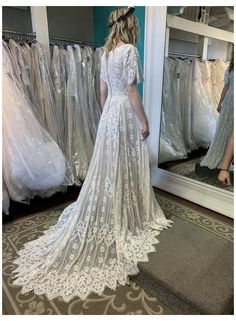 The perfect Boho Bride! She loved this modest lace wedding dress with boho sleeves and she got it! #allure #modest #wedding #dress #alluremodestweddingdress Allure Bridals M620 Modest Wedding Dress Best Wedding Guest Dresses, Blue Wedding Dresses, Boho Wedding Dress, Wedding Attire, Bridal Dresses, Gown Wedding, Mermaid Wedding, Wedding Dj, Burgundy Wedding