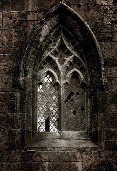 Spooky Gothic window.
