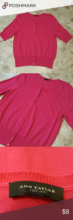 Ann Taylor Sweater Size Medium Love the pink!  Like new.  Feel free to ask any questions before purchasing.   Thanks for shopping my closet! Ann Taylor Sweaters