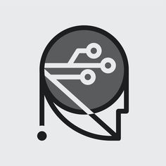 Simple robotic badge icon design | premium image by rawpixel.com / Kappy Kappy Badge Icon, Business Logo, Vector Icons, Icon Design, Robot, Black And White, Simple, Illustration, Black N White