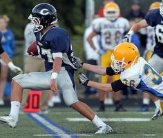 H.S. FOOTBALL: Cohasset defeats Hull in high school football. Quincy, MA - The Patriot Ledger