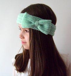 crochet bow earwarmer