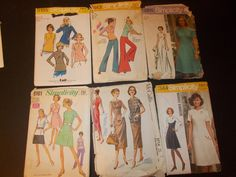 Inventory 82 Vintage Sewing Patterns Lot of 6 by RomanceWriter