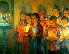 Russian Painter: Bogdanov-Belsky Nikolai - 'The Church' Russian Painting, Russian Art, Religious Paintings, Religious Art, Religion, Art Ancien, Russian Orthodox, Art Database, Art Studies