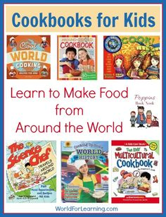 A fun way to teach children about other countries and cultures is with food! ...We often combine our geography, history, and literature lessons with cooking. These cookbooks will help your kids discover food from around the world. Here are a few cookbooks to help your family discover food from around the world: