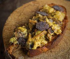 Mushroom And Crushed Egg Tapas (Tapas De Setas Con Huevo) Recipe ...