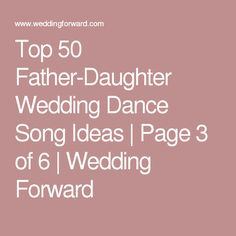 Nearly Cheese Free Father Daughter Dance Songs