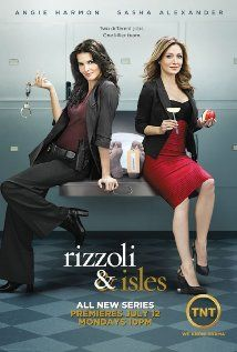 Rizzoli and Isles - Jane Rizzoli is a homicide detective, maura isles is a medical examiner and also at the police station work janes mum in the cafe and her brother frankie whos a uniformed cop. I am addicted to this programme!