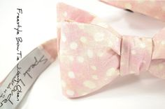 self-tie Wedding Mens Bow Tie Jimmy Olsen - Blush Pink with ivory dots on Etsy, Wedding 2015, Our Wedding, Dream Wedding, Jimmy Olsen, Groom Accessories, Wedding Ties, Geek Chic, Blush Pink, Dots
