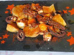 Uno de los platos estrella de la gastronomía gallega, pulpo a feira o a la gallega , hecho en su punto con nuestra olla GM .