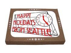 Perfect for sending a holiday greeting to folks out of state!  Classic Seattle with cool design from Orange Twist.