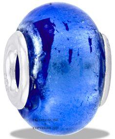 Da Vinci Beads Foil Glass Blue