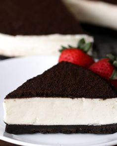 This Cheesecake Is Made From The Heart. Oreo no bake cheesecake Bolo Cookies And Cream, Cookies And Cream Cheesecake, No Bake Oreo Cheesecake, Cheesecake Recipes, Raspberry Cheesecake, No Bake Desserts, Dessert Recipes, Baking Desserts, Pastry Recipes