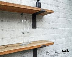 Rustic Shelves Shelf Industrial Chunky by BenSimpsonFurniture
