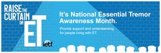 In March was designated as National Essential Tremor Awareness Month, a time to educate the public about essential tremor. National Awareness Months, Essential Tremors, Facebook Cover Images, Twitter Cover, Local Library, House Of Representatives, Social Media Channels, Make A Donation, Medical Conditions