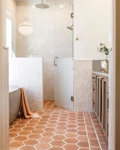 Native Trails Avalon concrete bathtub in earthy bathroom designed by Emily Seeds Interiors Bad Inspiration, Bathroom Inspiration, Bathroom Inspo, Bathroom Ideas, Bathroom Goals, Bathroom Designs, Shower Ideas, Bathroom Renos, Master Bathroom