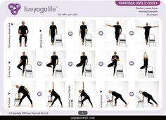 yogaposes8 Easy Yoga Poses For Seniors | Yoga with a Chair Level 2 u2013 Class 4 ...